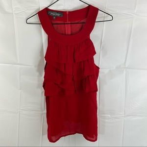 VeryVery Red Sleeveless Blouse Top Size 12
